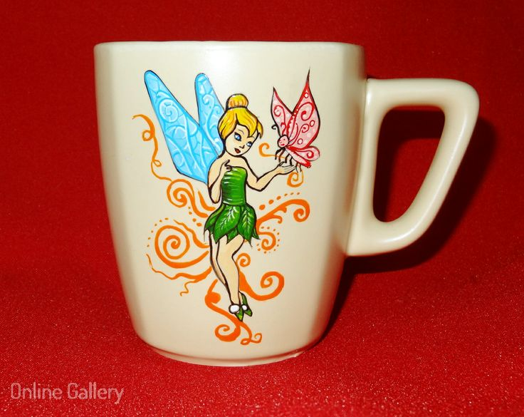 cana pictata - Clopotica #handmade #painted #mug #art #tinkerbell