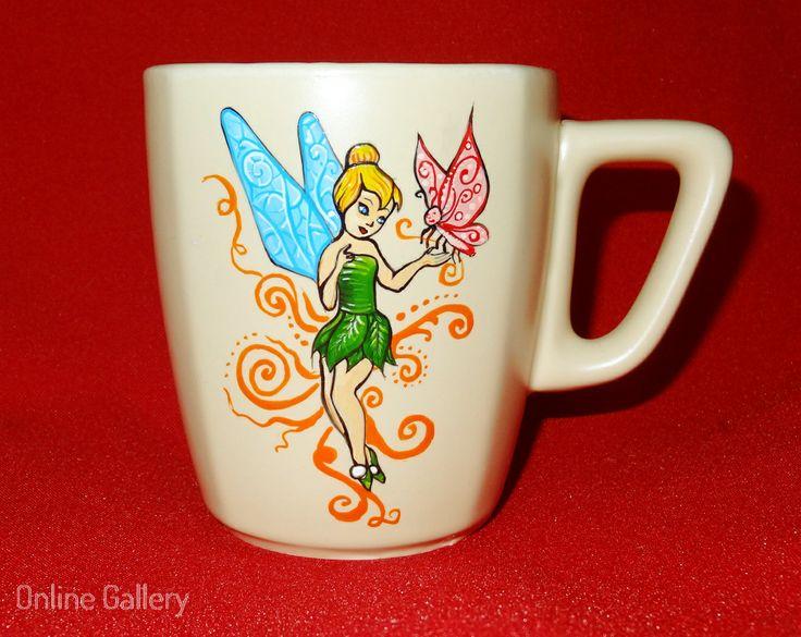 cana pictata - Clopotica #handmade #painted #mug #art #tinkerbell