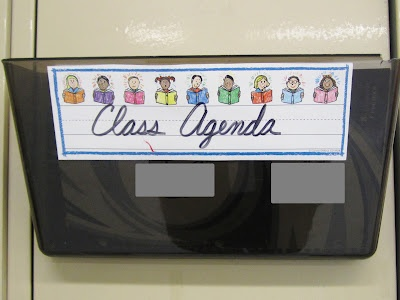 Have an agenda ready for kids who were absent...maybe a dry erase agenda?