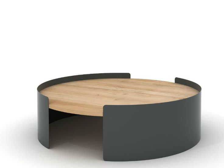 Table basse ronde en m tal moon table by universo positivo for Table ronde metal