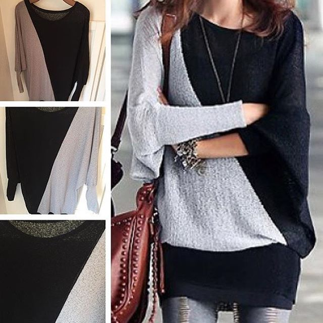 Batwing long sleeve tunic wool blend top with beautiful color-blocking. Only $10.20 this weekend, free shipping! Perfect sheer top to pair with all of your skinnies & boots for the season, it's super lightweight and can also be worn as a layer. Comment SOLD & EMAIL to purchase yours now. #colorblock #batwing #fallfashion #LiaBelleBoutique #neutrals #tunics #belles #LBB