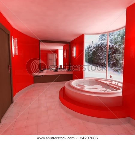 17 best images about red bathrooms on pinterest house for Bathroom designs red