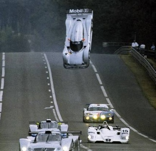 Mercedes Clr Racing Car Mark Webber Le Mans Take Off