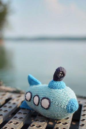 Free Knitting Pattern - Toys, Dolls & Stuff Animals: Tadpole Submarine Toy
