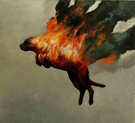 Visual artist Samuli Heimonen For you II. Acryl and oil on canvas. 38cm x 42cm. 2009
