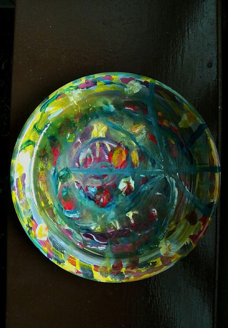 Κεραμικό πιάτο ζωγραφισμένο στο χέρι