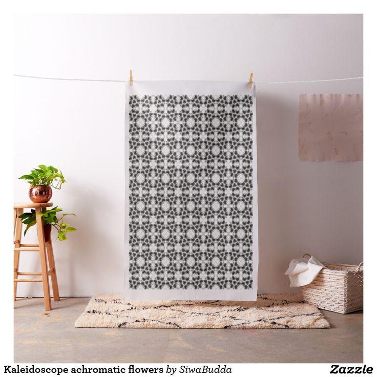 Kaleidoscope achromatic flowers fabric