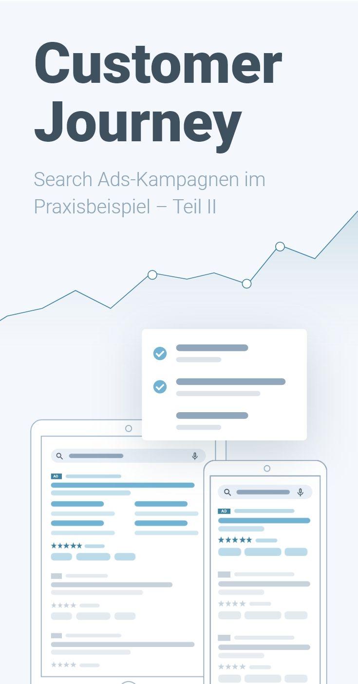 Customer Journey Search Ads Kampagnen Im Praxisbeispiel Teil Ii In 2020 Werbeanzeigen Neue Wege Journey