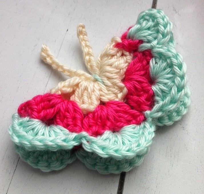 Crochet butterfly :: free crochet patterns :: finecraftguild.com
