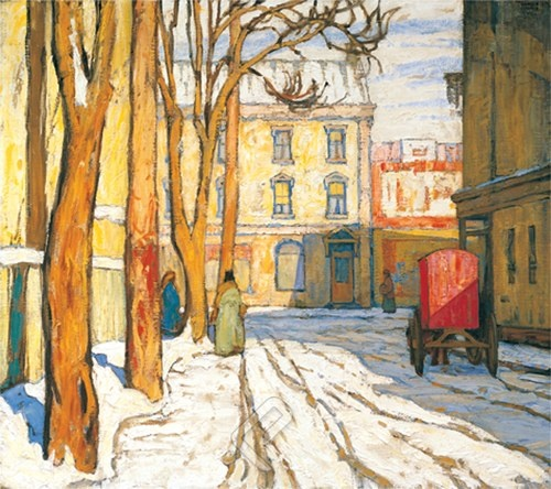 Toronto Street Winter Morning - Lawren Harris (Canadian, 1885-1970) The Group of Seven