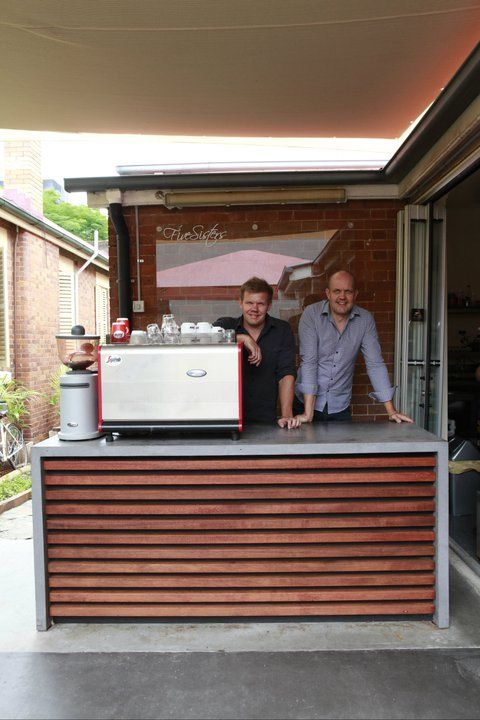 Five Sisters Coffee Shop at West End, Brisbane. POPconcrete with timber front