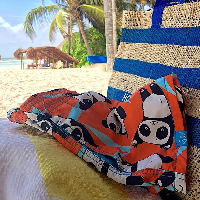 Panda beach party! Get a pair of Rebel Swim beach shorts and help support an endangered animal - with this design $30 from each pair go towards the conservation of the endangered Giant Panda!  #MyRebelSwims #swimwear