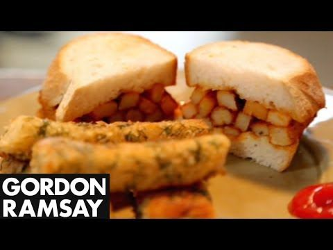 Gordon makes home-made fish fingers with dill breadcrumbs and a true British classic: The Chip Butty. From Gordon's Ultimate Home Cooking. Subscribe for more...