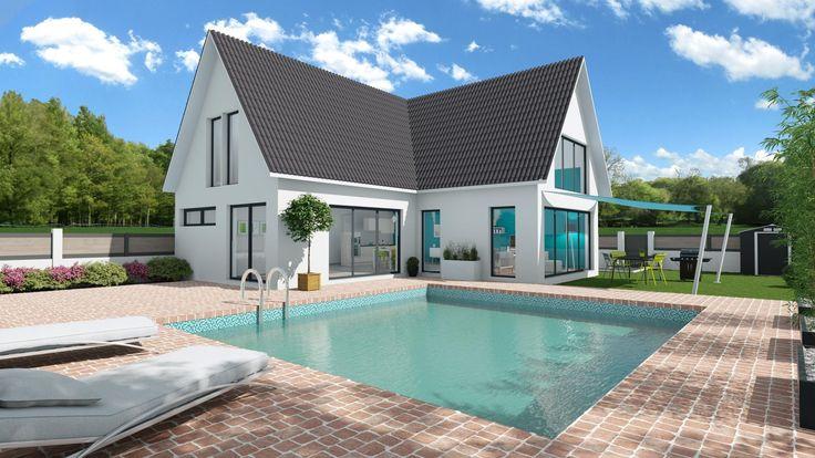 Extérieur maison 3D extrait du logiciel 3D Cedreo pour les