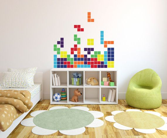 Tetris Vintage Arcade Game - Wall Decal Custom Vinyl Art Stickers