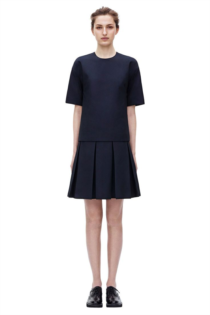 Pleated Skirt Dress from Pre Autumn Winter 2014 Victoria, Victoria Bckham collection. #BoFCarers #aoutfit #fashion #style