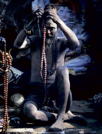 Malas are strings of beads, usually totalling 108 that are used while reciting mantras, sacred words used to invoke the powers of the Gods and Goddesses.