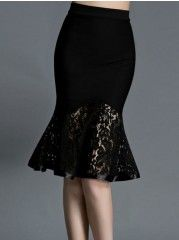 Patchwork Graceful Midi Skirts