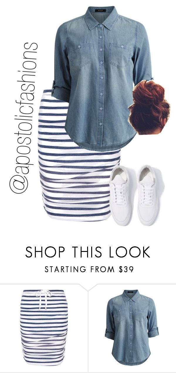 """Apostolic Fashions #1719"" by apostolicfashions ❤ liked on Polyvore featuring Splendid, Vila Milano and Filling Pieces"