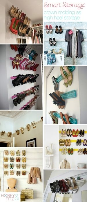 Crown molding as shoe storage