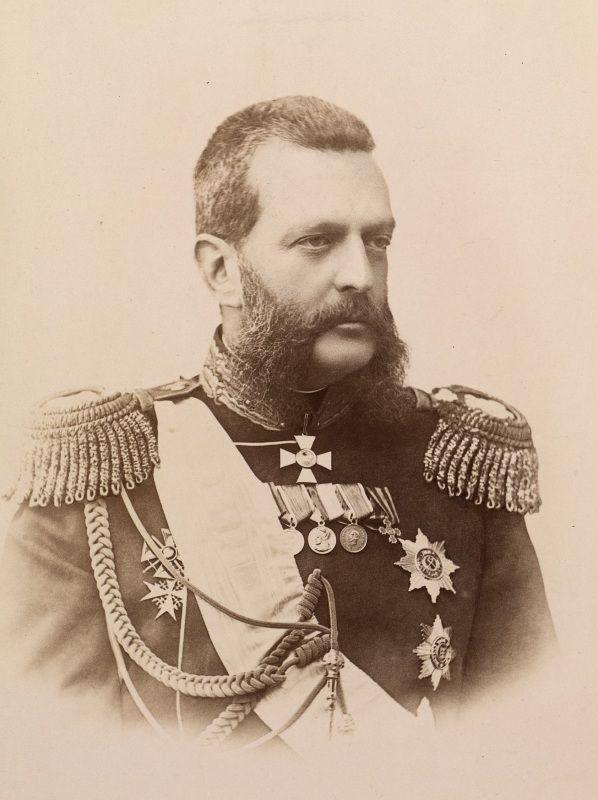 "Grand Duke Vladimir Alexandrovich Romanov (22 Apr 1847-17 Feb 1909) Russia. 4th Child of Tsar Alexander II ""Sasha"" (Alexander II Nikolaevich Romanov) (29 Apr 1818-13 Mar 1881) Russia & his wife Marie-Maria (Maximilienne Wilhelmine Marie) (Maria Alexandrovna) (8 Aug 1824-3 Jun 1880) Hesse, Germany."