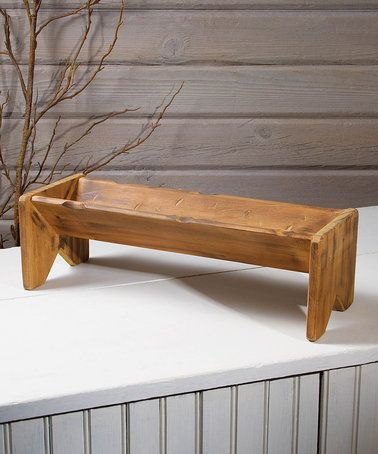Another great find on #zulily! Vintage Feed Trough Decor #zulilyfinds