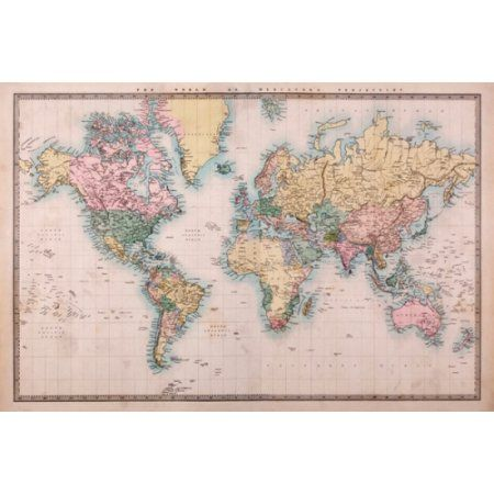 48 best maps images on pinterest maps old maps and antique maps large world map poster giant world map print antique world map print antique world map poster giant wall map gumiabroncs Gallery