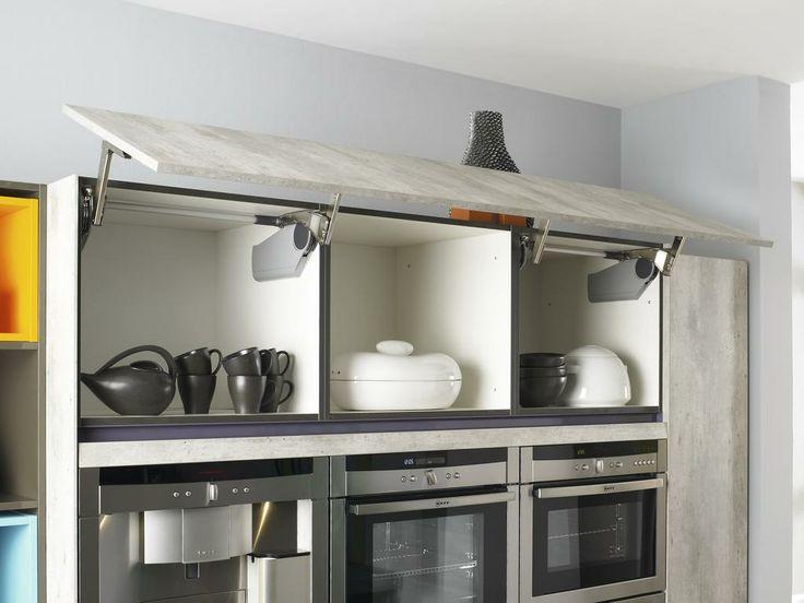 Bauformat brest 186 concrete looking kitchen cabinet - Miele kitchen cabinets ...