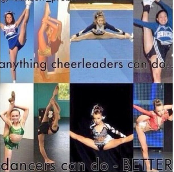 Ok I have nothing against cheerleaders but I find this kinda funny