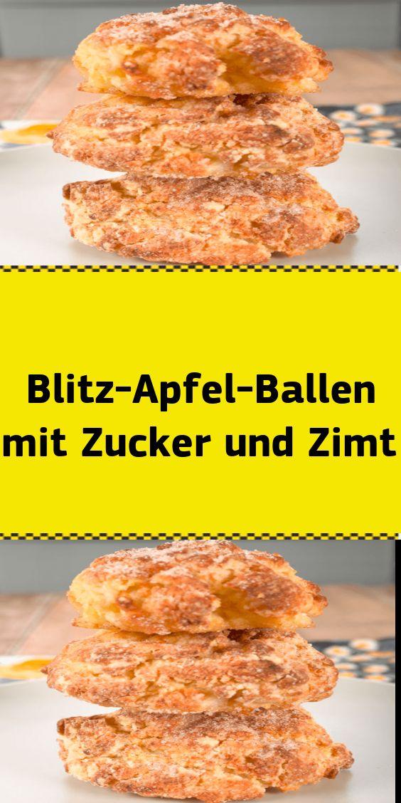 Blitz-Apfel-Ballen mit Zucker und Zimt