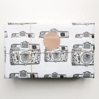 Holga camera gift wrap by Naked Lunge