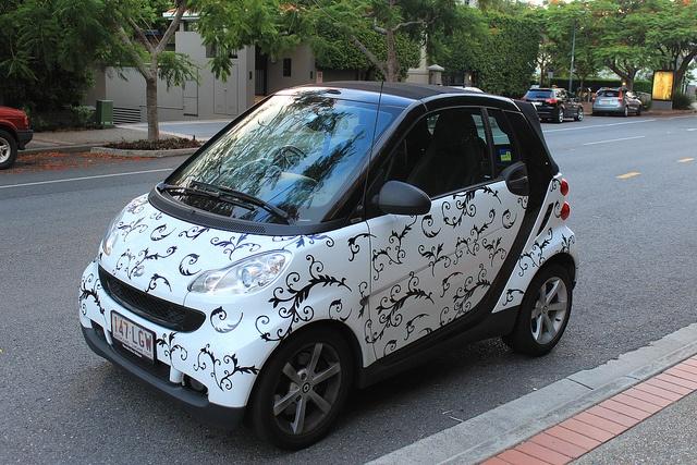 Motif-ed Smart car in Teneriffe by tanetahi, via Flickr