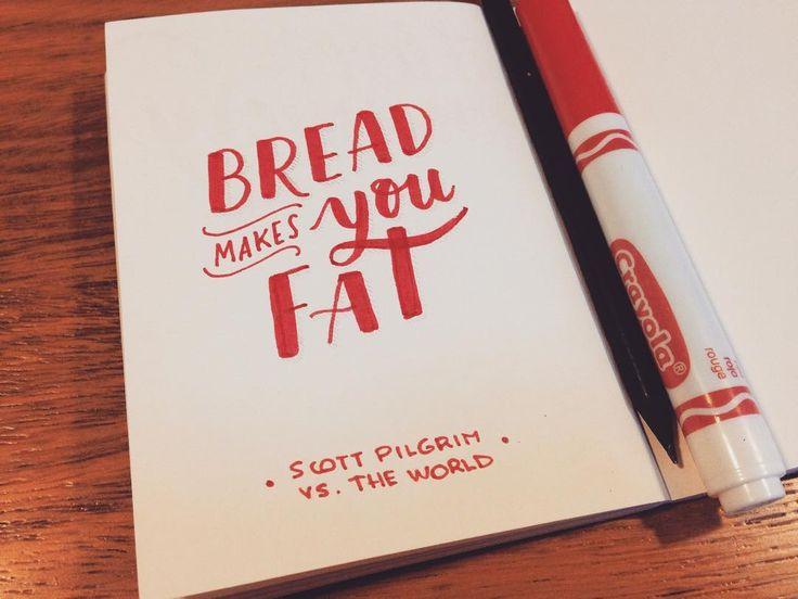 Mini proyecto/ Frases de mis pelis favoritas ✏️  SCOTT PILGRIM vs. THE WORLD #fanclub #handlettering #handlettered #handtype #handbrush #lettering #moviequotes #scottpilgrim