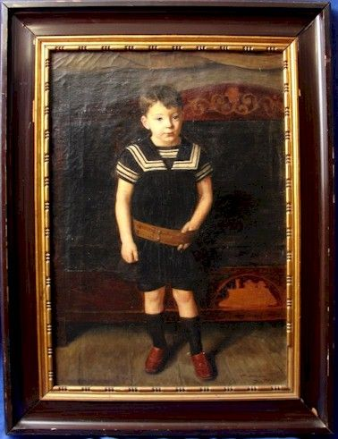 "Harald Moltke ""Boy in Sailor Outfit"" Oil Painting 1896 - Click Image to Close"