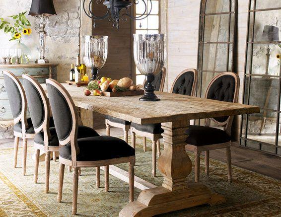 farmhouse decor | Farmhouse Dining Table Right Decoration and Chairs for Farmhouse ...