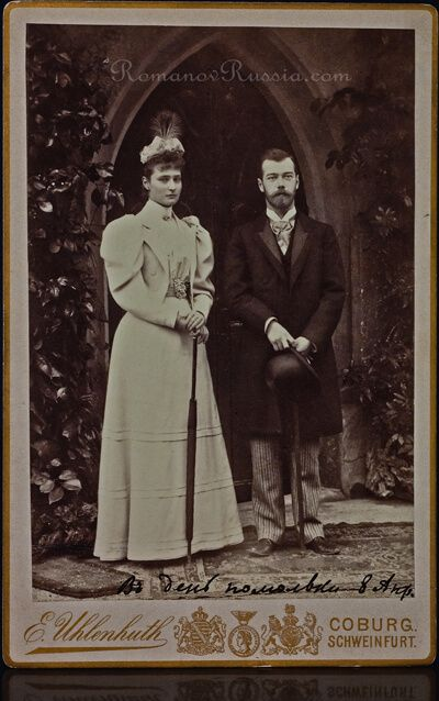 1894 Nicholas and Alexandra Engagement Photograph - Antique Jewelry | Vintage Rings | Faberge Eggs
