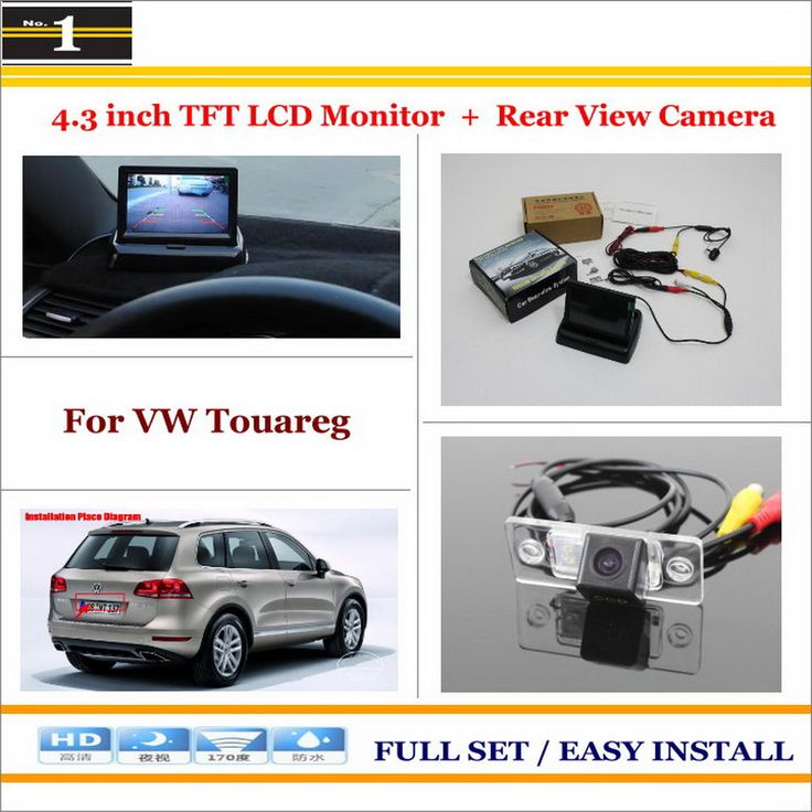 "In Car 4.3"" Color LCD Monitor + Car Rear Back Up Camera = 2 in 1 Park Parking System - For Volkswagen VW Touareg 2002~2010"