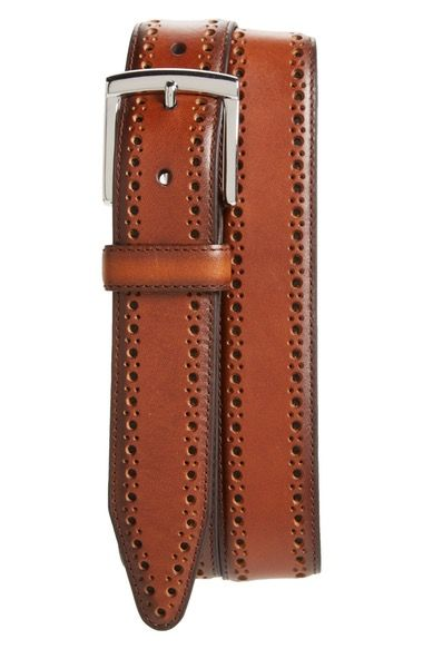 Johnston & Murphy Perforated Leather Belt available at #Nordstrom