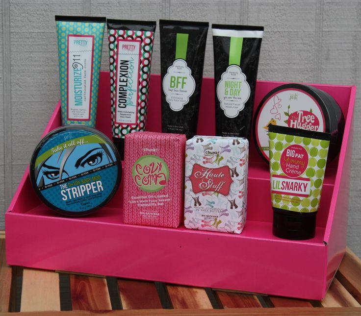 cardboard stack display pink salmon booth ideasdisplay ideascounter displayvendor tableproduct