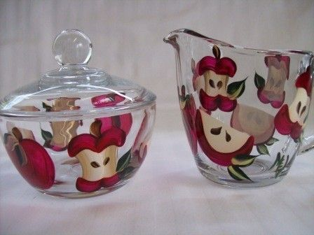 Appleshand Painted Cream And Sugar Set By Morningglories1 On Etsy. Apple  Kitchen DecorCountry ...
