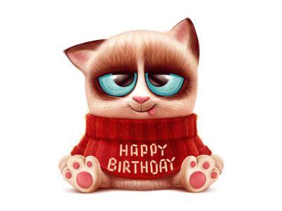 Gift cat by Anton Kuryatnikov ★ Find more at http://www.pinterest.com/competing/