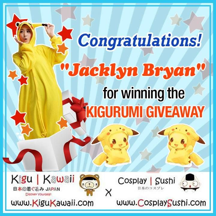 Congratulations to our Kigurumi Giveaway on A Holiday Winner!  Jackyln Bryan   You won a complete pikachu kigurumi set. ヽ(ˆ⌣ˆ)ヾ Please email us at service@kigukawaii.com for further details.  BRACE YOURSELVES FOR OUR NEW YEARS GIVEAWAY!  Thank you for joining our last giveaway for this year.   #kigurumi #giveaway #winner #onesie #pikachu #pajamas #kigukawaii