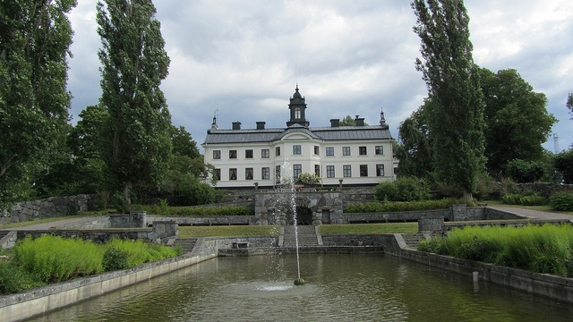 Kaggeholm, Ekerö, Sweden  The castle at Kaggeholm is situated at Helgö, Ekerö, to the west of Stockholm. The architect was Nicodemus Tessin junior and the building started in 1795.  It has shared the fate of many other castles and manors and is now a conference centre.  by Catarina Berg