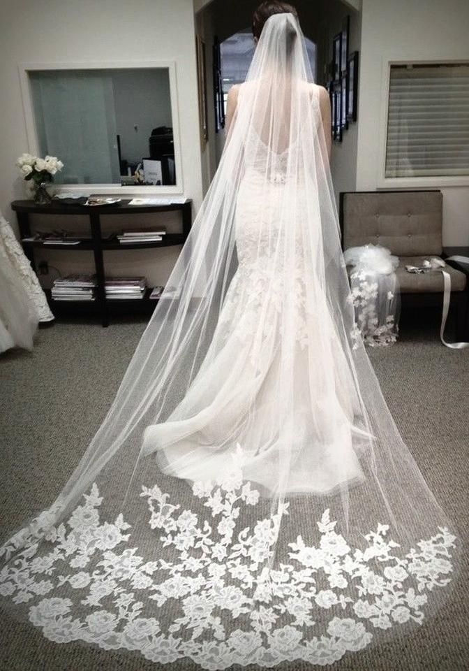 155 best budget bridal veils and hair jewelry images on pinterest long appliqued veil in ivory long appliqued veil in ivory on tradesy weddings formerly junglespirit Gallery