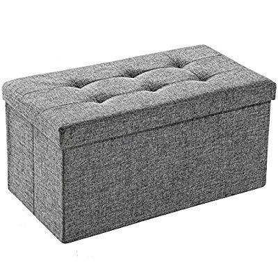 TecTake Faltbare Sitzbank Aufbewahrungsbox Sitzwürfel Hocker Würfel Möbel 76x38x38cm - diverse Farben - (Lichtgrau | Nr. 402238): Amazon.de: Küche & Haushalt