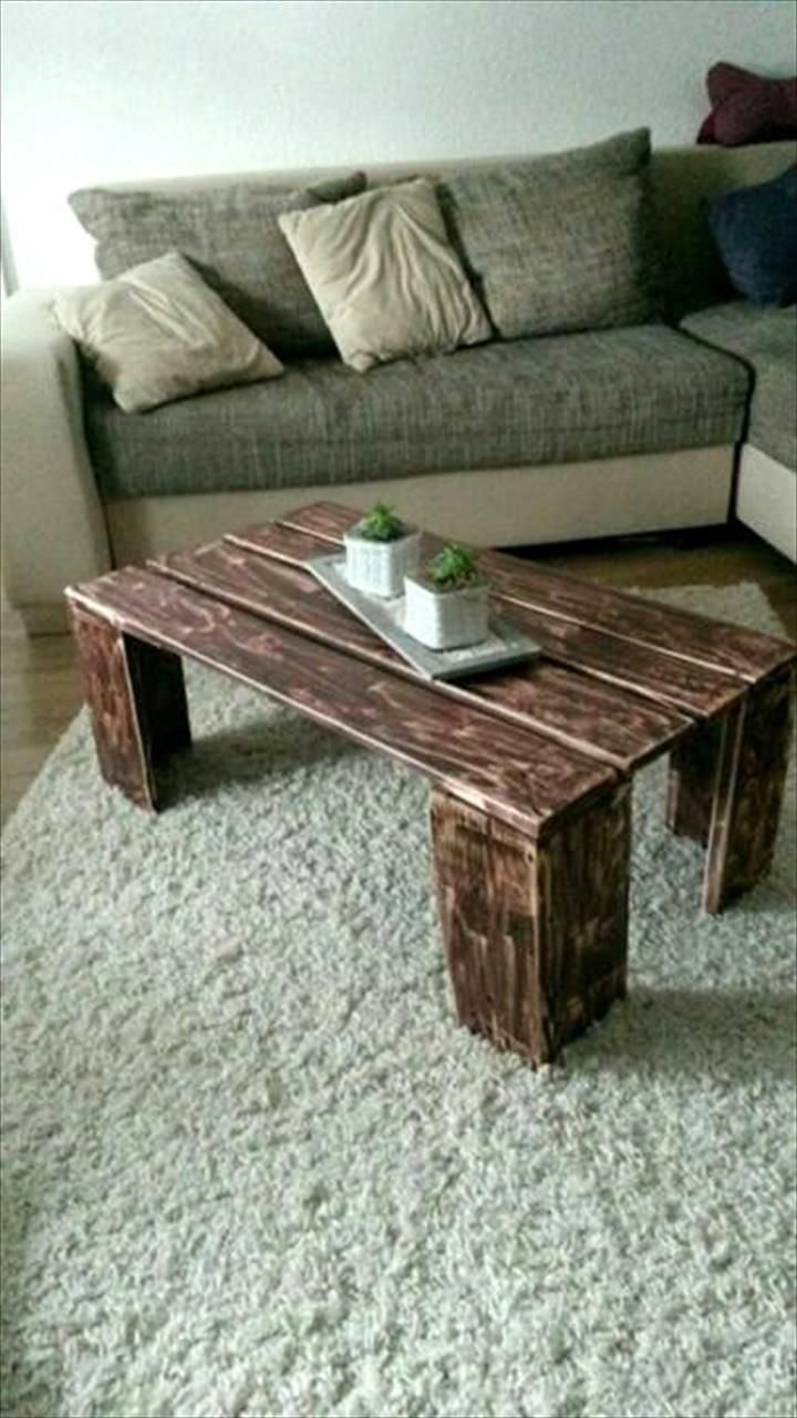 Coffee Table For Living Room Out Of Pallets Diy Custom