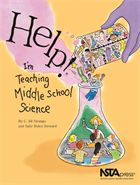 "NSTA: ""Help! I'm Teaching Middle School Science."" The book covers all the basics: what to do on the first day of school (including icebreaker activities), preparing safe and effective lab lessons, managing the classroom, and working with in-school teams as well as parents."