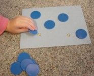 Math with manipulatives.  Activities to foster your child's number sense