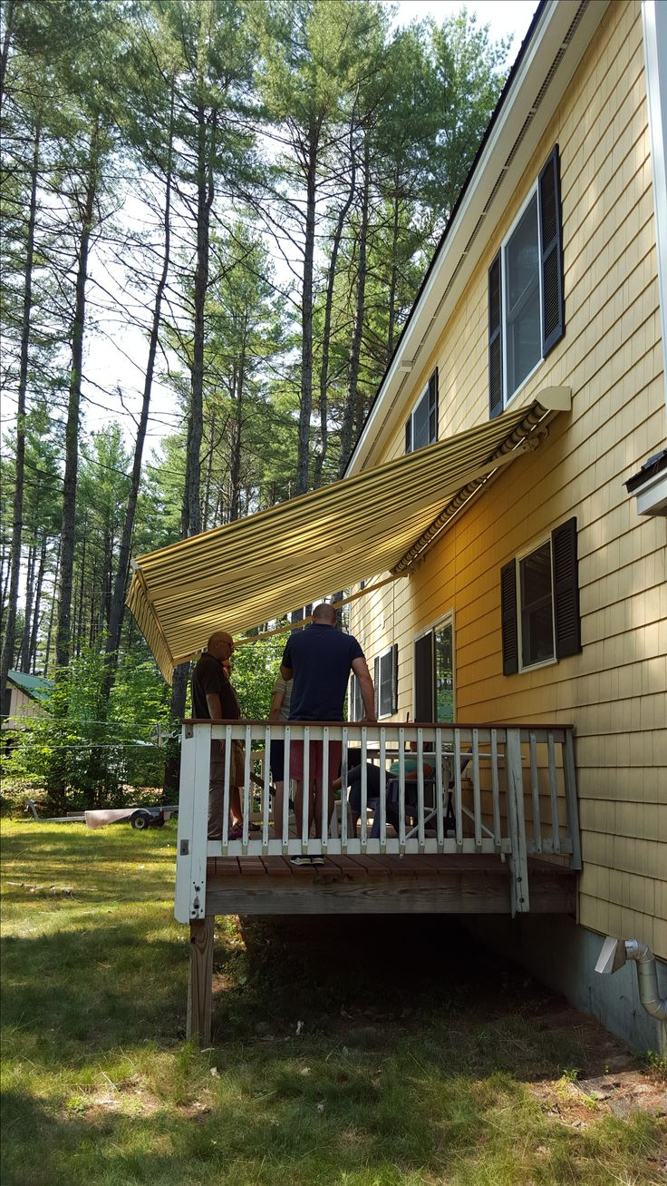 canvas covers ultimate decks awnings for superior in deck awning of ideasforliving patio