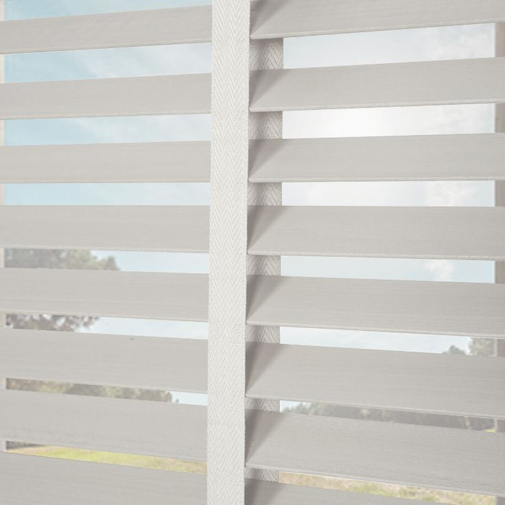 Nile 35 Taped Pearl White Wooden Blinds